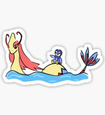 Into Battle - Milotic and Piplup Sticker