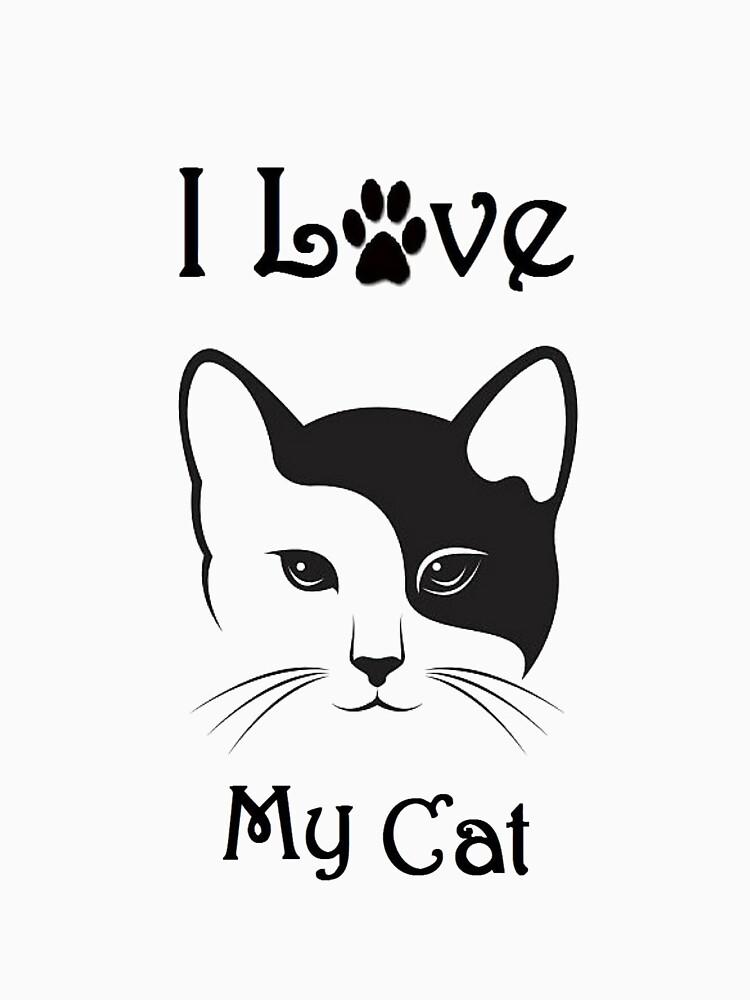 Cat Shirt - I Love My Cat - By G.B Fashion Care by gubolta