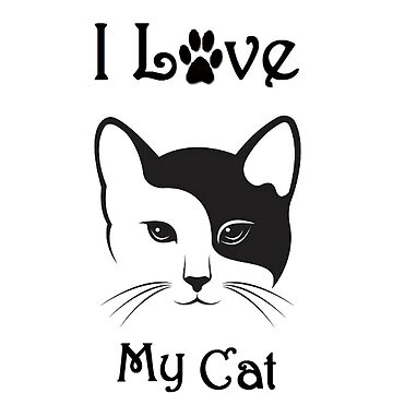 Cat Shirt - I Love My Cat - By G.B Fashion Care by gubolta