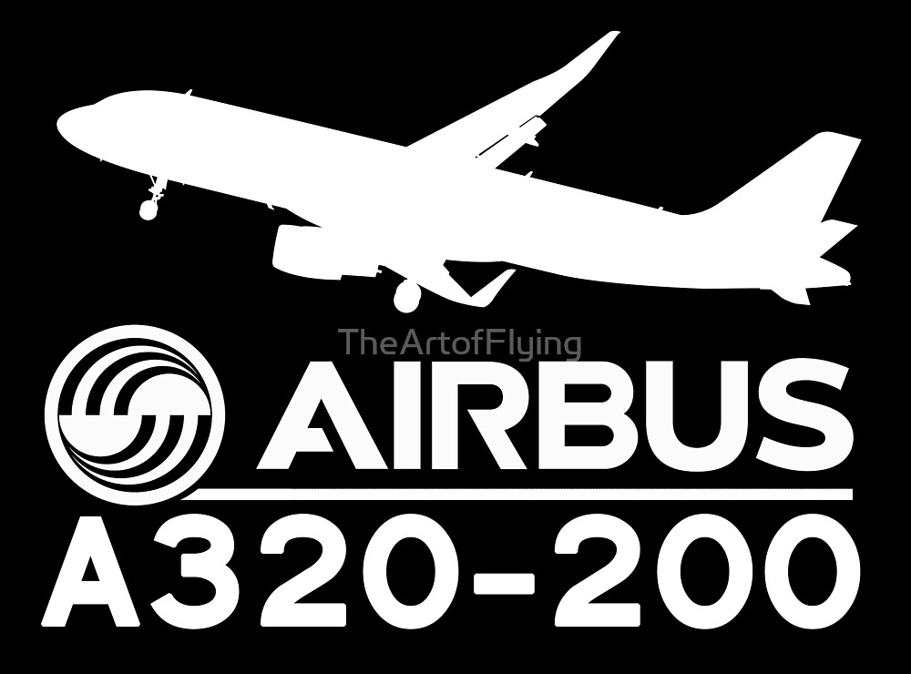 Airbus A320-200 - Silhouette (White) by TheArtofFlying