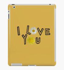 I love you on spicy mustard iPad Case/Skin
