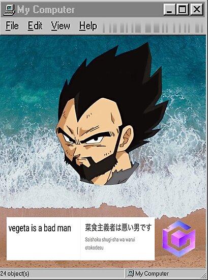 VEGETA IS A BAD MAN by GrossDesigns