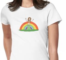 Rainbow Hippie! Womens Fitted T-Shirt
