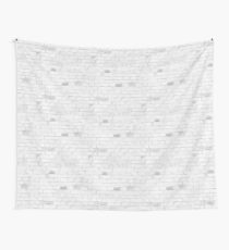 White Brick Wall Modern Texture Wall Tapestry