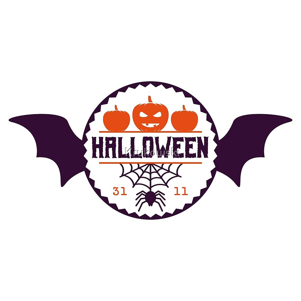 Halloween Celebration Badge Design by Krukowski