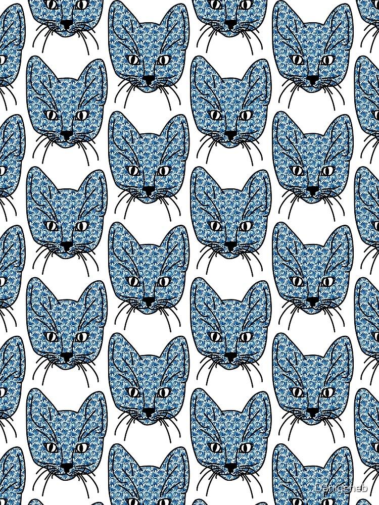 Crazy Kitten blue pattern by Danigeheb