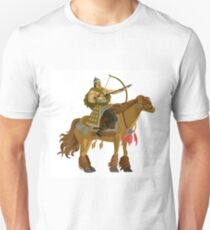 mongolian rider archer with bow and arrow calvary T-Shirt
