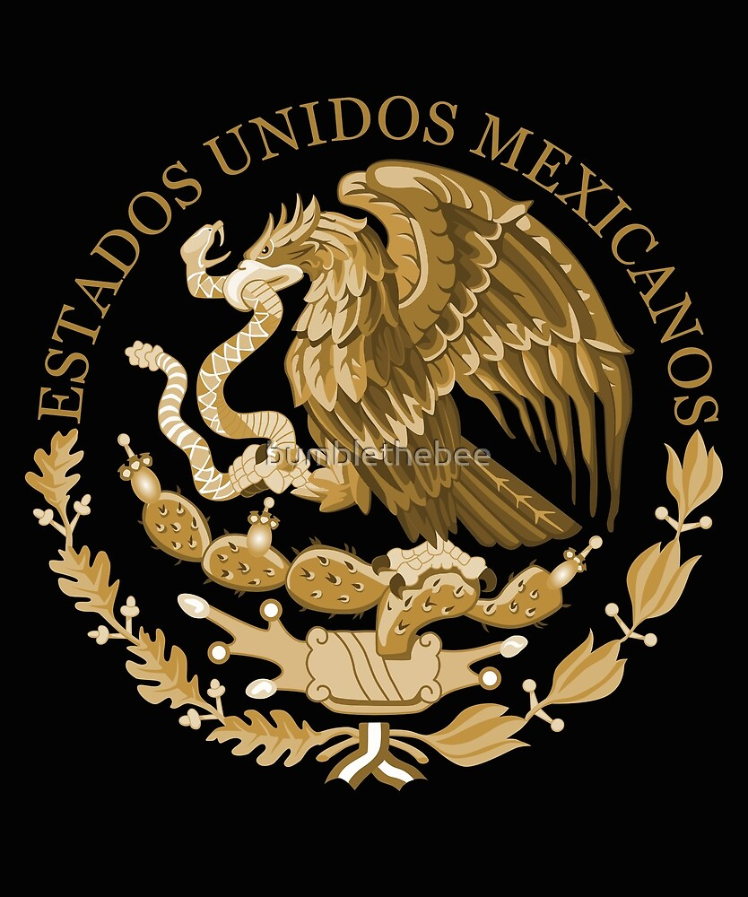 mexico coat of arms bronze by bumblethebee