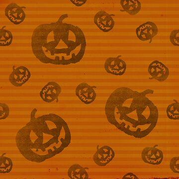 Pumpkin Stripe Halloween by lollylocket