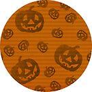 Kürbis Streifen Halloween von lollylocket