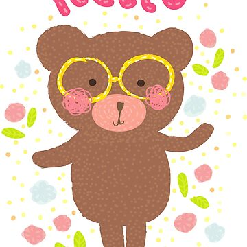 Happy Bear with Glasses by dhysaseverely