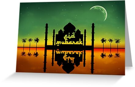 Eid Mubarak Night Reflection by sorayashan