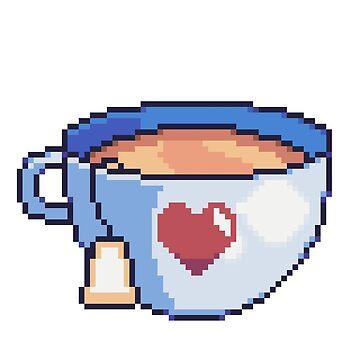 Pixel-art tea by Ombrage