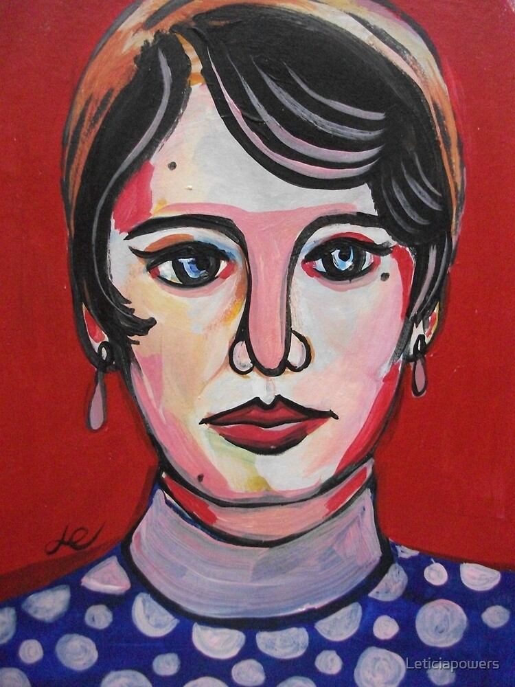 Woman on red by Leticiapowers
