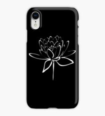 Lotus Flower Calligraphy (White) iPhone XR Case
