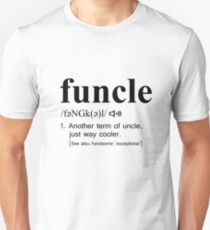 Funcle Black Text T-Shirt