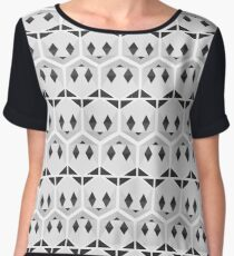 Panda honeycomb Women's Chiffon Top