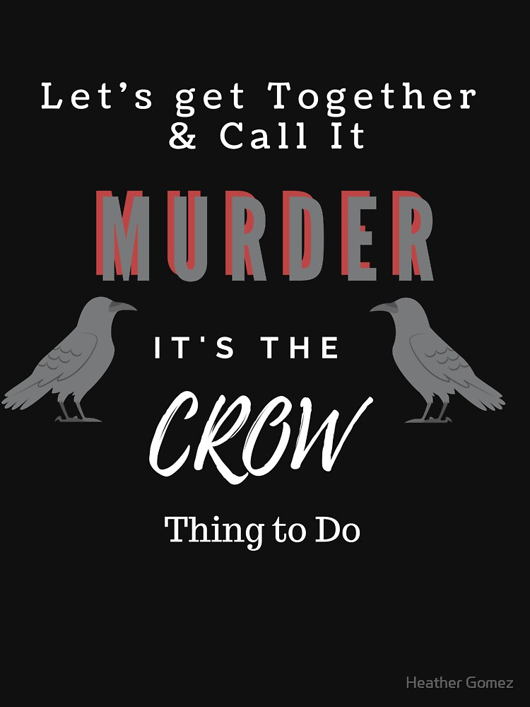 Crow Fan-Play on Words Design by Hgomez84