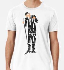 Typografische und minimalistische Frank Sinatra Illustration Männer Premium T-Shirts