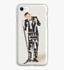 Typographic and Minimalist Frank Sinatra Illustration iPhone Case/Skin