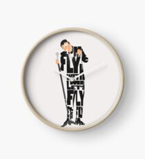 Typographic and Minimalist Frank Sinatra Illustration Clock