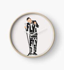 Typographic and Minimalist Frank Sinatra Illustration Clock