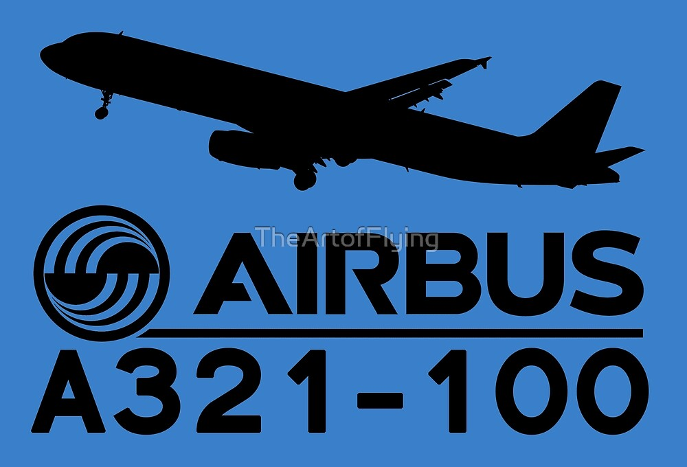 Airbus A321-100 - Silhouette (Black) by TheArtofFlying