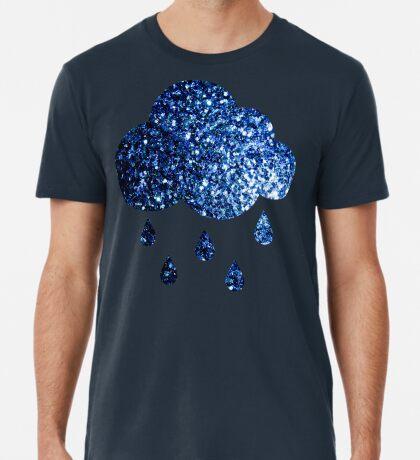 Beautiful Dark Blue glitter sparkles Men's Premium T-Shirt