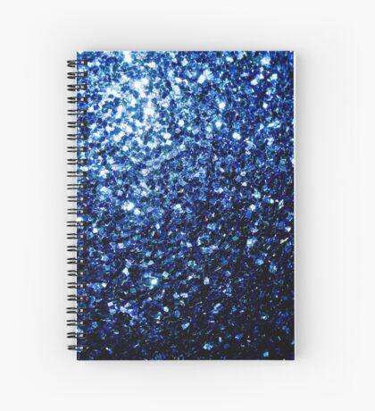 Beautiful Dark Blue glitter sparkles Spiral Notebook