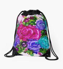 Country Rose Garden Drawstring Bag