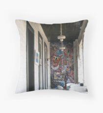 Dahlonega balcony in spring Throw Pillow