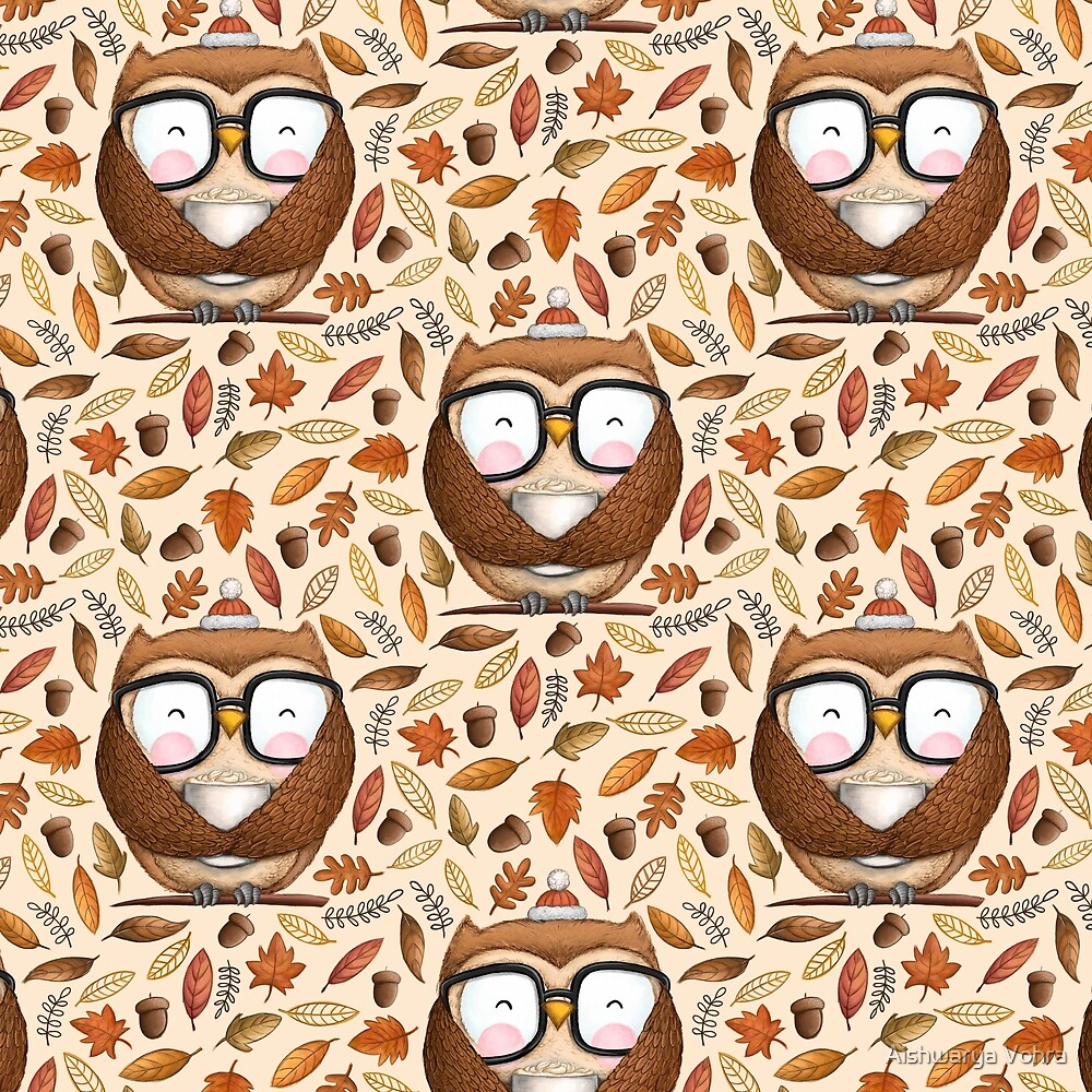 Seamless Owl Pattern by Aishwarya Vohra