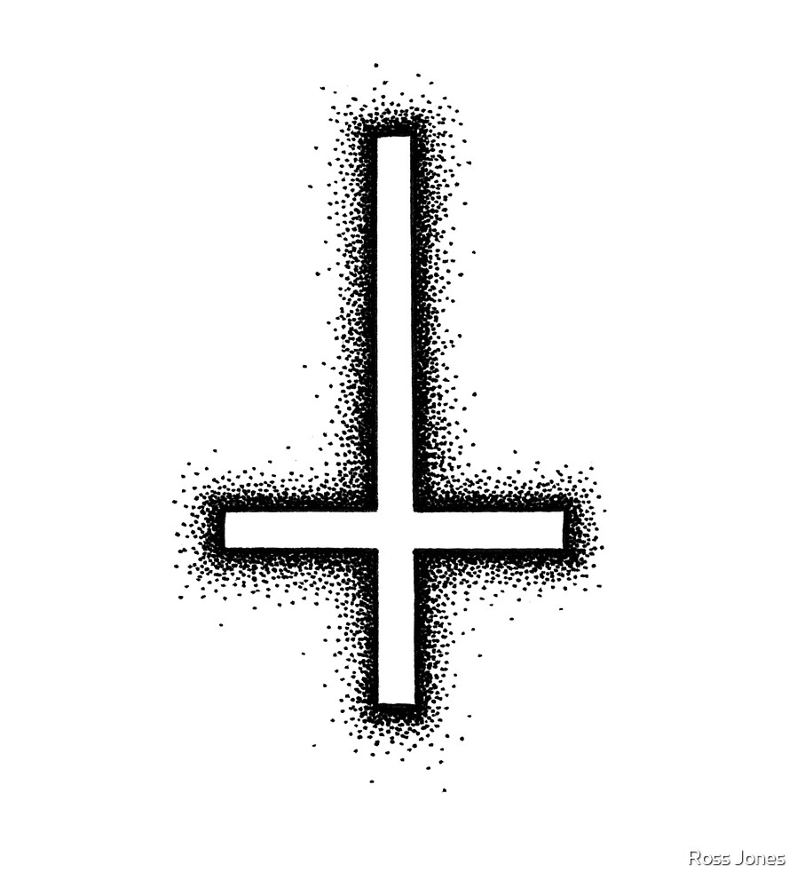 Inverted Cross - Black by Ross Jones