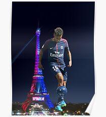 Neymar psg - ball Poster