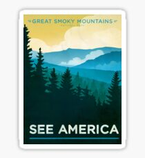 Vintage Travel Poster – See America / Great Smoky Mountains National Park Sticker