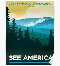 Vintage Travel Poster – See America / Great Smoky Mountains National Park Poster