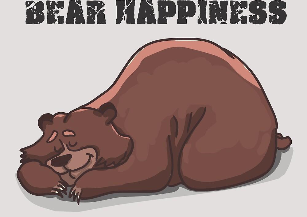 T-Shirt bear happiness, bear by Wallace Silva