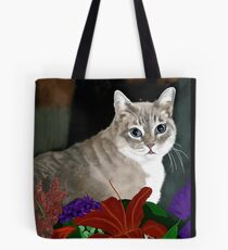 Tinkerbell Kitty and Flowers Tote Bag