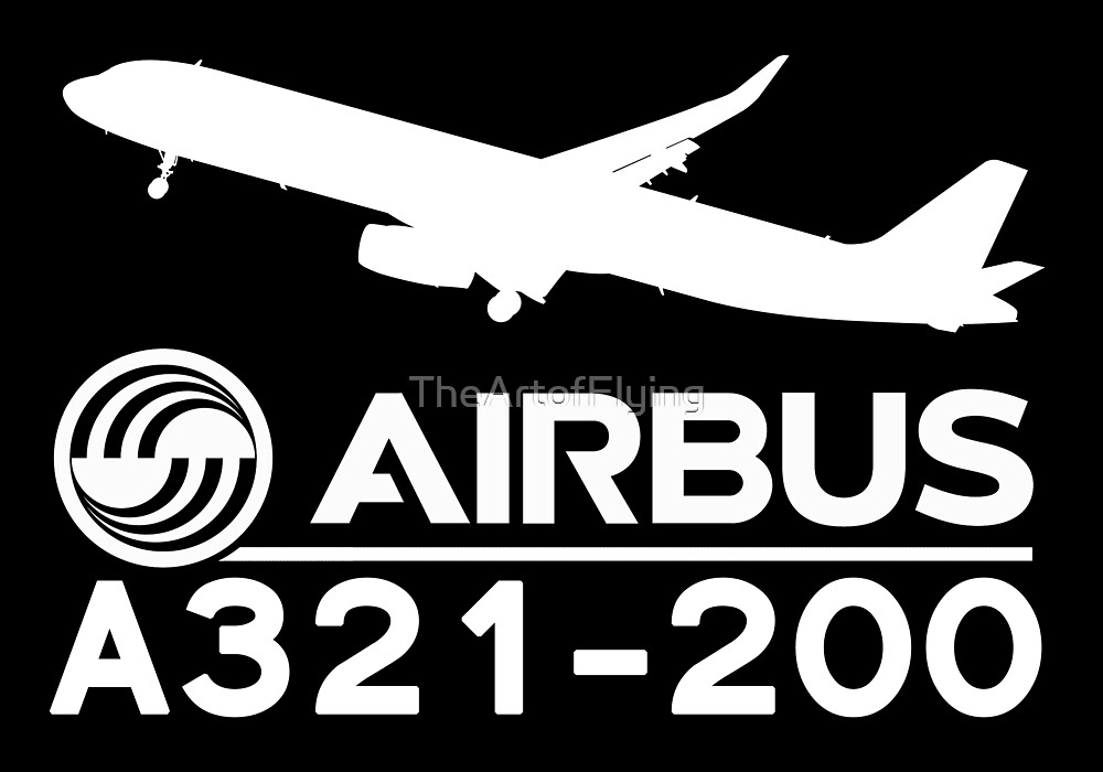 Airbus A321-200 - Silhouette (White) by TheArtofFlying
