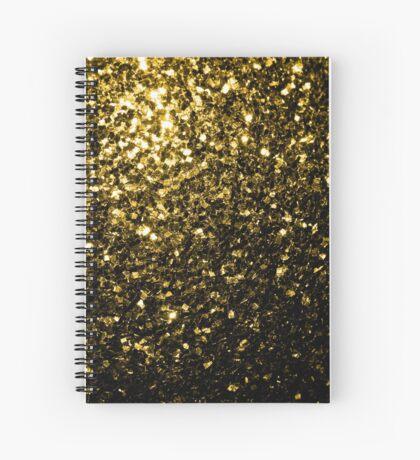Beautiful Yellow Gold glitter sparkles Spiral Notebook