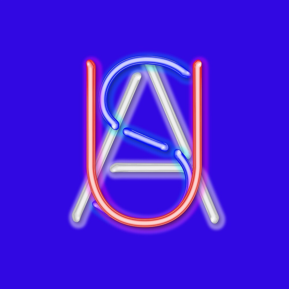 USA - NEON - Dark Blue by Hell-Prints
