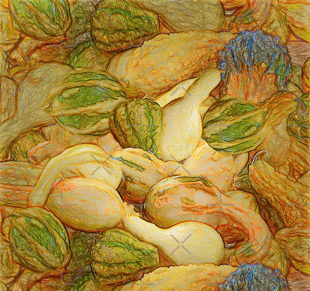 Pile O Gourds - Unframed by Leslie Montgomery
