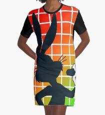 Shadow – Rabbit Graphic T-Shirt Dress