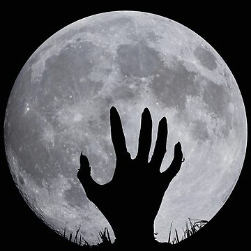 Zombie hand in front of full moon by Be-Shepherd