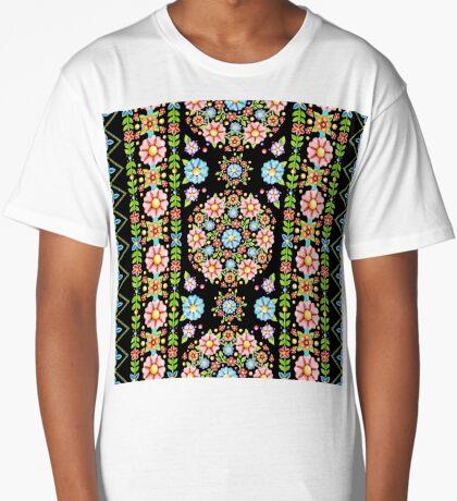 Boho Chic Stripe Long T-Shirt