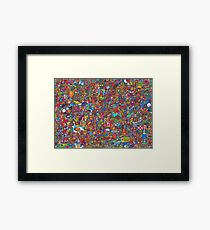 PopArt Wimmelbild - The Incredible Adventures Framed Print