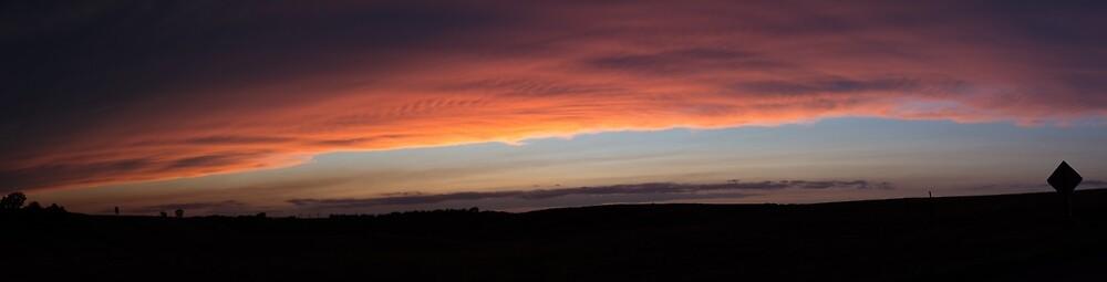 Panoramic sunset  by judyallenphotog