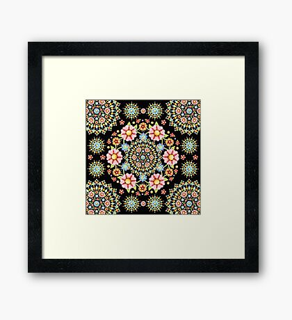Flower Crown Bijoux Framed Print