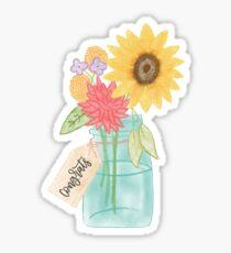 Congrats Floral Vase Sticker