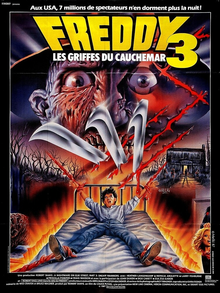 Nightmare on Elm Street 3: Dream Warriors French Poster by vhsclub